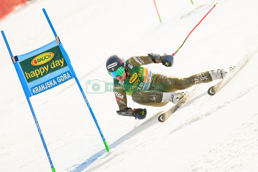 March 9, 2019 - Kranjska Gora, Kranjska Gora, Slovenia - Ted Ligety of United States of America in action during Audi FIS Ski World Cup Vitranc on March 8, 2019 in Kranjska Gora, Slovenia. (Credit Image: © Rok Rakun/Pacific Press via ZUMA Wire)