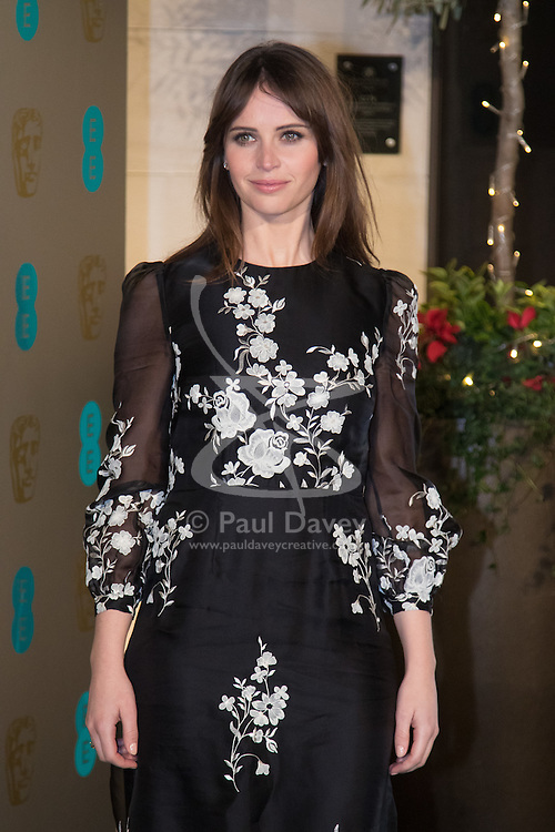 Photo Must Be Credited ©Alpha Press<br /> Felicity Jones arrives at the EE British Academy Film Awards after party dinner at the Grosvenor House Hotel in London.