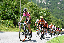 Mara Abbott (Wiggle High5) takes the climbs in her stride at Giro Rosa 2016 - Stage 6. A 118.6 km road race from Andora to Alassio, Italy on July 7th 2016.
