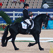 Eleonore Elstone and Lutke at the Hong Kong Venue of the 2008 Paralympic Games