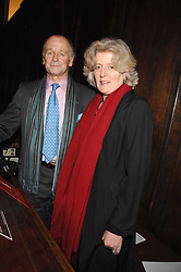 SIMON PARKER BOWLES and LADY FELLOWES sister of the late Diana, Princess of Wales at a carol concer 'Carols From Chelsea - A Celebration of Christmas' held at the Royal Hospital Chapel, Chelsea in aid of The Institute of Cancer Research on 4th December 2007.<br />