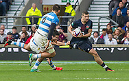 Jonny May in action, England v Argentina in an Old Mutual Wealth Series, Autumn International match at Twickenham Stadium, London, England, on 26th November 2016. Full Time score 27-14