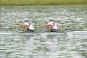 Munich, GERMANY, GBR LM2X bow. Zac PURCHASE and Mark HUNTER, Gold medalist men's lightweight  double sculls. 2010 FISA World Cup. Munich Olympic Rowing Course, Sunday  20/06/2010   [Mandatory Credit Peter Spurrier/ Intersport Images]