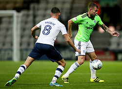Preston North End's Alan Browne challenges Cardiff City's Aron Gunnarsson - Mandatory by-line: Matt McNulty/JMP - 12/09/2017 - FOOTBALL - Deepdale Stadium - Preston, England - Preston North End v Cardiff City - SkyBet Championship