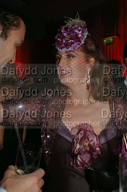 Francesca Habsburg, Archduchess of Austria. Andy & Patti Wong's Chinese New Year party to celebrate the year of the Rooster held at the Great Eastern Hotel, Liverpool Street, London.29th January 2005. The theme was a night of hedonism in 1920's Shanghai. . ONE TIME USE ONLY - DO NOT ARCHIVE  © Copyright Photograph by Dafydd Jones 66 Stockwell Park Rd. London SW9 0DA Tel 020 7733 0108 www.dafjones.com