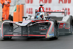 April 28, 2018 - Paris, Ile-de-France, France - Germany's Maro Engel of the Formula E team Venturi competes during the French stage of the Formula E championship around The Invalides Monument close to The Eiffel Tower in Paris on April 28, 2018. (Credit Image: © Michel Stoupak/NurPhoto via ZUMA Press)