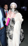 16.SEPTEMBER.2012. LONDON<br /> <br /> LADY GAGA LEAVES THE ROYAL COURTS OF JUSTICE IN CENTRAL LONDON AFTER ATTENDING PHILIP TRACEY'S LONDON FASHION WEEK SHOW. GAGA ALSO TOOK DELIVERY OF SOME FOOD MAINLY PIZZA, BEFORE CHANGING HER OUTFIT AND HEADING BACK TO HER LONDON HOTEL.<br /> <br /> BYLINE: EDBIMAGEARCHIVE.CO.UK<br /> <br /> *THIS IMAGE IS STRICTLY FOR UK NEWSPAPERS AND MAGAZINES ONLY*<br /> *FOR WORLD WIDE SALES AND WEB USE PLEASE CONTACT EDBIMAGEARCHIVE - 0208 954 5968*