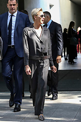 HSH the Princess Charlene of Monaco leaves the fashion show at Armani Theatre during the Milan Fashion Week - Collection 2018 on September 22, 2017 in Milan, Italy. Photo by Marco Piovanotto/Abacapress.com