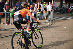 Karlijn Swinkels (NED) attacks in the final phase of the race at Healthy Ageing Tour 2018 - Stage 5, a 94.3 km road race in Groningen on April 8, 2018. Photo by Sean Robinson/Velofocus.com