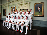Cricket - 2019 Middlesex CCC Pre-Season Press Day - Lords <br /> <br /> Middlesex team group :<br /> l-r Back row : Robbie White,Ethan, Bamber, George Scott, Martin Anderson, Max Holden, Jack Davies, Nathan Sowter.<br /> Middle row : Paul Stirling,Tom Barber,Tom Helm,Ollie Rayner, James Harris, Nick Gubbins, Stephen Eskinazi.<br /> Sitting : Toby Roland - Jones, Tim Murtagh, Steven Finn, Dawid Malan, Sam Robson, John Simpson, Eoin Morgan.<br /> <br /> COLORSPORT/ANDREW COWIE
