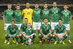 November 15, 2018 - Dublin, Ireland - Irish national football team poses for a photo during the International Friendly match between Republic of Ireland and Northern Ireland at Aviva Stadium in Dublin, Ireland on November 15, 2018  (Credit Image: © Andrew Surma/NurPhoto via ZUMA Press)