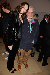 CATHERINE BAILEY and DAVID BAILEY at a private view of photographs by David Bailey entitled 'Bailey's Stardust' at the National Portrait Gallery, St.Martin's Place, London on 3rd February 2014.