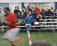 Gerald Pena runs the 40 yard dash at Ole Miss Pro Day at the Indoor Practice Facility in Oxford, Miss. on Thursday, March 7, 2013.