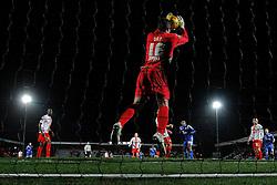 Stevenage's Chris Day makes a save - Photo mandatory by-line: Mitchell Gunn/JMP - Tel: Mobile: 07966 386802 22/02/2014 - SPORT - FOOTBALL - Broadhall Way - Stevenage - Stevenage v Crewe Alexandra - League One