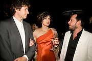 PAUL ANDERSON; MILLA JOVAVICH; ALEX DE BETAK. Rodarte Poolside party to show their latest collection. Hosted by Kate and Laura Muleavy, Alex de Betak and Katherine Ross.  Chateau Marmont. West  Sunset  Boulevard. Los Angeles. 21 February 2009 *** Local Caption *** -DO NOT ARCHIVE -Copyright Photograph by Dafydd Jones. 248 Clapham Rd. London SW9 0PZ. Tel 0207 820 0771. www.dafjones.com<br /> PAUL ANDERSON; MILLA JOVAVICH; ALEX DE BETAK. Rodarte Poolside party to show their latest collection. Hosted by Kate and Laura Muleavy, Alex de Betak and Katherine Ross.  Chateau Marmont. West  Sunset  Boulevard. Los Angeles. 21 February 2009