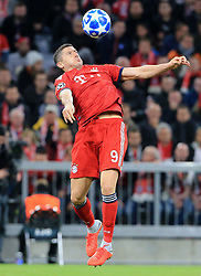 02.10.2018, CL, Champions League, FC Bayern Muenchen vs Ajax Amsterdam, Allianz Arena  Muenchen, im Bild:..Robert Lewandowski (FCB)...DFL REGULATIONS PROHIBIT ANY USE OF PHOTOGRAPHS AS IMAGE SEQUENCES AND / OR QUASI VIDEO...Copyright: Philippe Ruiz..Tel: 089 745 82 22.Handy: 0177 29 39 408.e-Mail: philippe_ruiz@gmx.de. (Credit Image: © Philippe Ruiz/Xinhua via ZUMA Wire)