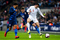 Ben Chilwell of England is tacked by Wil Trapp of USA - Mandatory by-line: Robbie Stephenson/JMP - 15/11/2018 - FOOTBALL - Wembley Stadium - London, England - England v United States of America - International Friendly