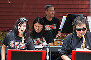 Members of the Minidoka Swing Band perform  on the grounds of Washington Country Museum, Hillsboro, Oregon