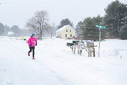 Joan Benoit Samuelson runs on roads near her Maine home