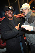 l to r: Tamir Brown and J. Period at The OkayPlayer Holiday Jammy Produced by Jill Newman Productions held at BB KINGS on Decemeber 16, 2009