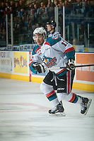 KELOWNA, CANADA - JANUARY 23: Tyrell Goulbourne #12 of Kelowna Rockets skates against the Everett Silvertips on January 23, 2015 at Prospera Place in Kelowna, British Columbia, Canada.  (Photo by Marissa Baecker/Shoot the Breeze)  *** Local Caption *** Tyrell Goulbourne;