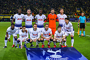 The Tottenham Hotspur team pose for a photograph ahead of the Champions League round of 16, leg 2 of 2 match between Borussia Dortmund and Tottenham Hotspur at Signal Iduna Park, Dortmund, Germany on 5 March 2019.