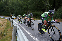 Waowdeals Pro Cycling at Ladies Tour of Norway 2018 Team Time Trial, a 24 km team time trial from Aremark to Halden, Norway on August 16, 2018. Photo by Sean Robinson/velofocus.com