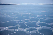 The ice covered Sea of Japan (East Sea) close to the sea port of Vladivostok in Russia. Vladivostok, Russian Federation, Russia, RUS, 12.01.2010.