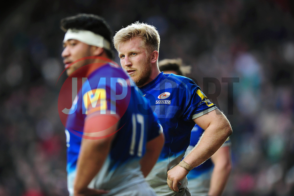 Jackson Wray of Saracens - Mandatory byline: Patrick Khachfe/JMP - 07966 386802 - 20/03/2016 - RUGBY UNION - Welford Road - Leicester, England - Leicester Tigers v Saracens - Aviva Premiership.
