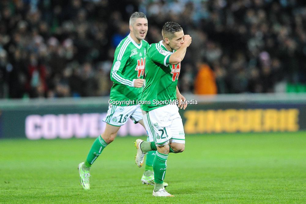 Joie Romain HAMOUMA - 21.12.2014 - Saint Etienne / Evian Thonon - 19eme journee de Ligue 1<br />Photo : Jean Paul Thomas / Icon Sport