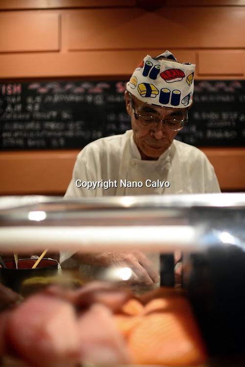 Chef Norihiko Suzuki at Ebisu Japanese restaurant, San Francisco.