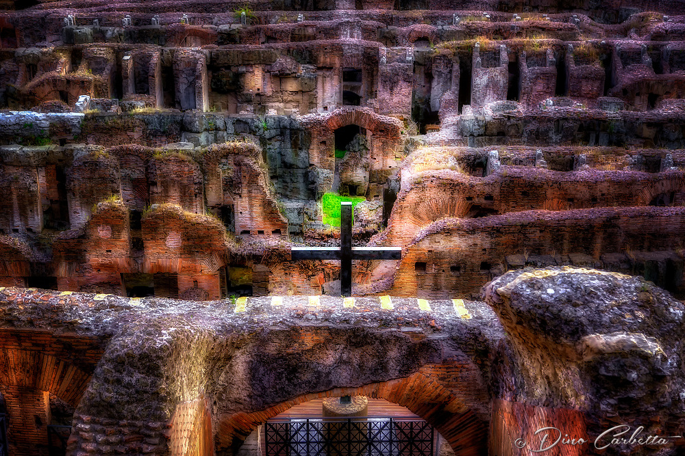 """The Holy Cross blesses the Christian martyrs of the Roman Coliseum""…<br />