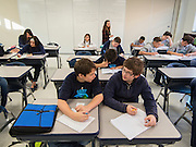 Students attend classes in the newly completed addition at Grady Middle School, February 8, 2016.