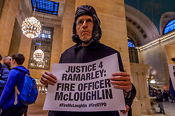 April 4, 2017 - New York, United States - Over a hundred people joined Ramarley Graham's family; other families of those killed by the police; members of the Justice Committee;  Jews for Racial & Economic Justice (JFREJ); Black, Jewish leaders and other Jews of Color; Jewish New Yorkers from across the five boroughs; and Black Lives Matter-NY at Grand Central station, for a public action and vigil in conjunction with Beyond The Moment's National Day of Action on April 4, 2017; followed by a march through midtown Manhattan to demand from the Mayor and the NYPD commissioner more accountability in the Ramarley Graham case and an end to Broken Windows Policing in NYC. (Credit Image: © Erik Mcgregor/Pacific Press via ZUMA Wire)