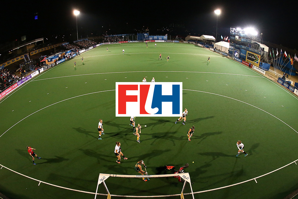 JOHANNESBURG, SOUTH AFRICA - JULY 18:  Nicole La Fleur, goalkeeper of South Africa saves a shot at goal during day 6 of the FIH Hockey World League Women's Semi Finals quarter final match between Germany and South Africa at Wits Univesity on July 18, 2017 in Johannesburg, South Africa.  (Photo by Jan Kruger/Getty Images for FIH)