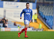 Portsmouths Conor Chaplin during the The FA Cup match between Portsmouth and Macclesfield Town at Fratton Park, Portsmouth, England on 7 November 2015. Photo by Adam Rivers.