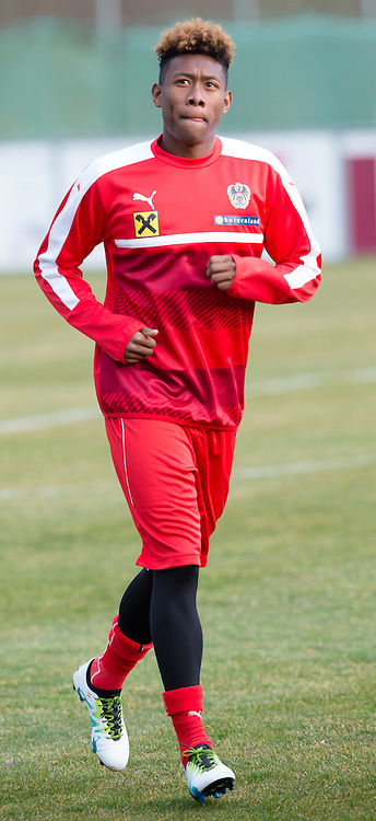 22.03.2016, Sportzentrum, Stegersbach, AUT, OeFB Training, im Bild David Alaba (AUT) // David Alaba (AUT) during a Trainingssession of Austrian National Footballteam at the Sportcenter in Stegersbach, Austria on 2016/03/22. EXPA Pictures © 2016, PhotoCredit: EXPA/ Dominik Angerer