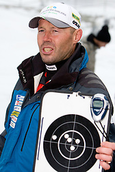 Coach Uros Velepec at training session of Slovenian biathlon team before new season 2009/2010,  on November 16, 2009, in Pokljuka, Slovenia.   (Photo by Vid Ponikvar / Sportida)