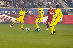 STYLEPREPENDMilton Valenzuela (19) of Columbus Crew SC kicks ball during 2nd leg MLS Cup Eastern Conference semifinal game against Red Bulls at Red Bul Arena Red Bulls won 3 - 0 agregate 3 - 1 and progessed to final (Credit Image: © Lev Radin/Pacific Press via ZUMA Wire)