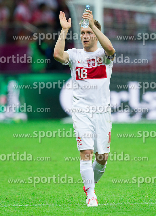 Jakub Blaszczykowski of Poland after the UEFA EURO 2012 group A match between Poland and Russia at The National Stadium on June 12, 2012 in Warsaw, Poland.  (Photo by Vid Ponikvar / Sportida.com)