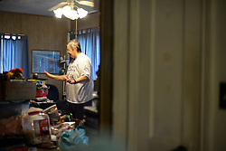 Carrol Briggs, residents in the Southside neighborhood of Jacksonville, FL returns on September 12, 2017 after Hurricane Irma.<br /> Flood water of the storm surge damaged many homes in the neighborhood after the storm system took an unexpected turn and caused massive power outages and coastal flooding around the state.