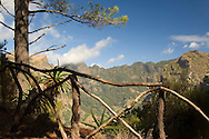 A view of the Curral da Freiras, a valley surrounded by high peaks near<br /> Funchal, Madeira