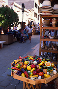 Artificial fruit stand in market area, Nogales, Sonora, Mexico..©1990 Edward McCain. All rights reserved. McCain Photography, McCain Creative, Inc.
