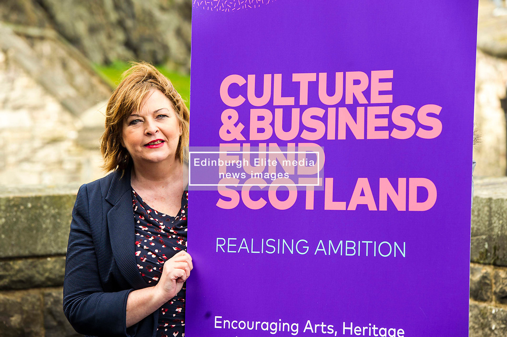 EMBARGOED UNTIL 00:01 3 APRIL 2017  FREE TO USE  FREE TO USE FREE TO USE<br /> Pictured: Fiona Hyslop. <br /> On Friday, Culture Secretary Fiona Hyslop visited Edinburgh Castle and launched the Culture & Business Fund Scotland. Funded by the Scottish Government via Creative Scotland and Historic Environment Scotland the fund will encourage the development of arts, heritage and business partnerships<br /> <br /> Ger Harley | EEm 31 March 2017