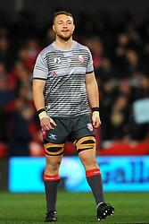 Ruan Ackermann of Gloucester Rugby warms up- Mandatory by-line: Nizaam Jones/JMP - 22/02/2019 - RUGBY - Kingsholm - Gloucester, England- Gloucester Rugby v Saracens - Gallagher Premiership Rugby