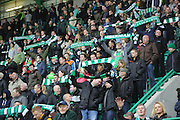 Hibernian fans - Hibernian v Dundee - Clydesdale Bank Scottish Premier League at Easter Road.. - © David Young - www.davidyoungphoto.co.uk - email: davidyoungphoto@gmail.com