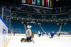 Matija Pintaric at ice hockey practice one day before at IIHF World Championship DIV. I Group A Kazakhstan 2019, on April 28, 2019 in Barys Arena, Nur-Sultan, Kazakhstan. Photo by Matic Klansek Velej / Sportida