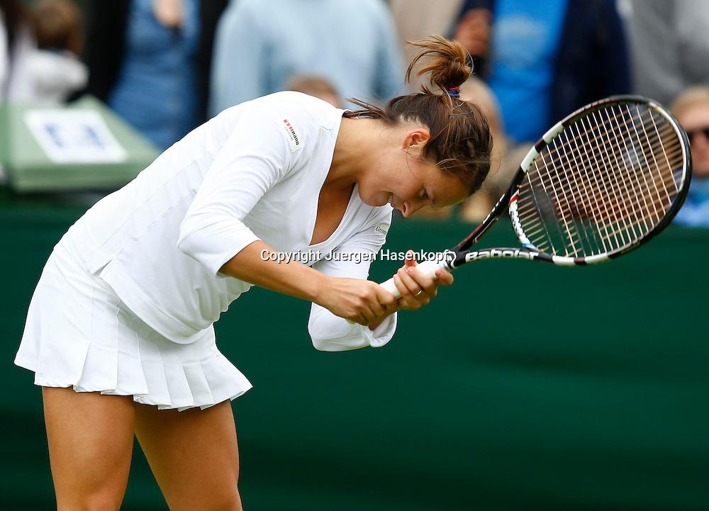 Wimbledon Championships 2013, AELTC,London,<br /> ITF Grand Slam Tennis Tournament, Tatjana Maria(GER) aergert sich,<br /> Aerger,Frust,Emotion,Einzelbild,Halbkoerper,Querformat,