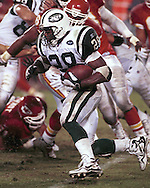 New York Jets' Curtis Martin during game action against the Kansas City Chiefs at Arrowhead Stadium in Kansas City, Missouri on November 1, 1998.