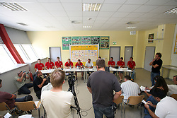 New players at press conference of handball club RK Celje Pivovarna Lasko before new season 2008/2009, on September 2, 2008 in Celje, Slovenia. (Photo by Vid Ponikvar / Sportal Images)